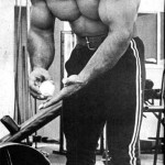 Franco Columbu Chalking up
