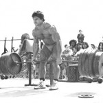 Franco Columbu Deadlifting